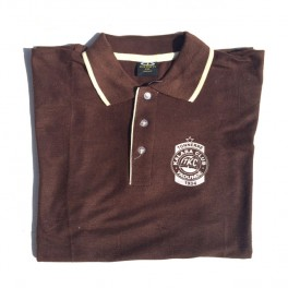 Polo TKC bicouleur Marron